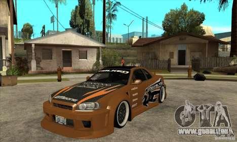 Nissan Skyline GTR - EMzone B-day Car für GTA San Andreas