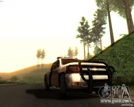 Chevrolet Silverado Police pour GTA San Andreas salon