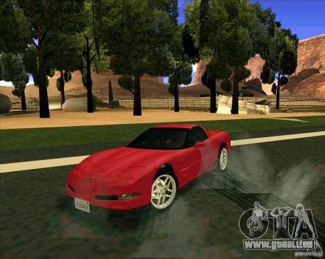 Chevrolet Corvette C5 z06 pour GTA San Andreas vue de droite