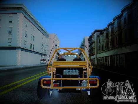 Buggy From Crash Rime 2 für GTA San Andreas zurück linke Ansicht
