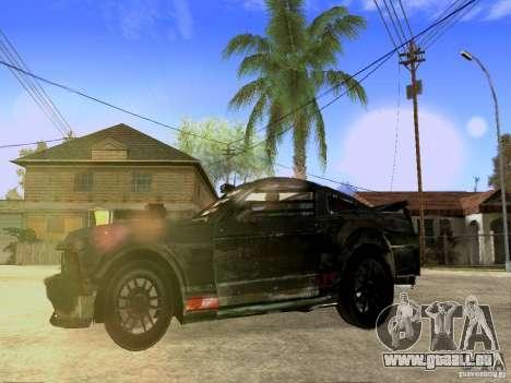 Ford Mustang Death Race für GTA San Andreas Rückansicht