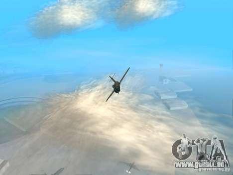 MiG-15 mit Waffen für GTA San Andreas Rückansicht