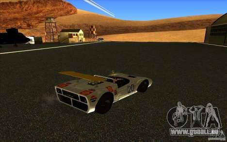 Nissan R381 pour GTA San Andreas sur la vue arrière gauche