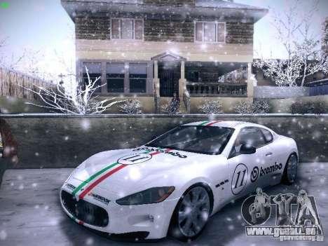 Maserati Gran Turismo S 2011 V2 pour GTA San Andreas vue intérieure