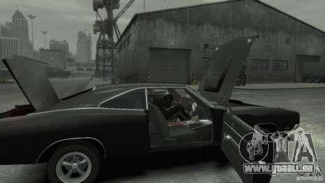 Dodge Charger RT 1969 Tun für GTA 4 Rückansicht