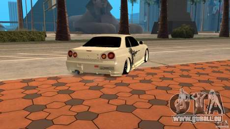 Nissan Skyline R-34 für GTA San Andreas linke Ansicht