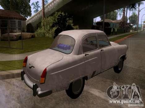 GAZ 21 Volga pour GTA San Andreas sur la vue arrière gauche