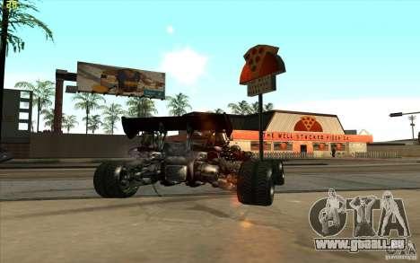 XCALIBUR CD 4.0 XS-XL RACE Edition pour GTA San Andreas sur la vue arrière gauche