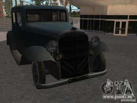 Le véhicule de la seconde guerre mondiale pour GTA San Andreas vue arrière