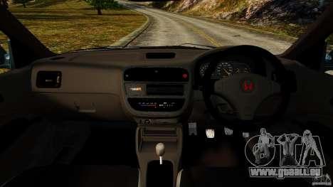 Honda Civic Type R (EK9) pour GTA 4 Vue arrière