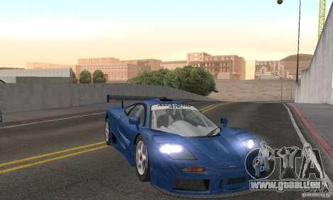 Mclaren F1 GTR (v1.0.0) für GTA San Andreas Rückansicht
