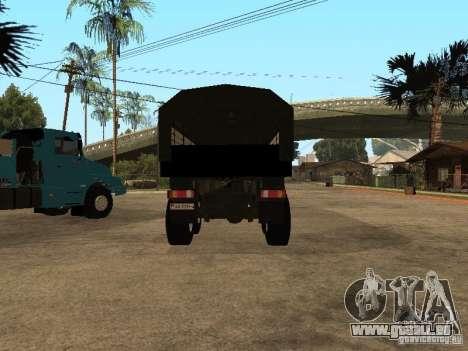 KAMAZ-4355 für GTA San Andreas Innenansicht