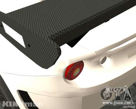 Lotus Evora Type 124 pour GTA San Andreas sur la vue arrière gauche