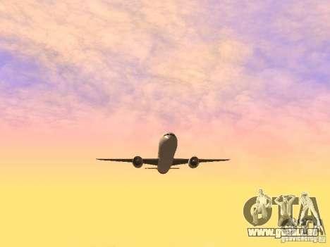 Boeing 787 Dreamliner Qantas pour GTA San Andreas vue intérieure