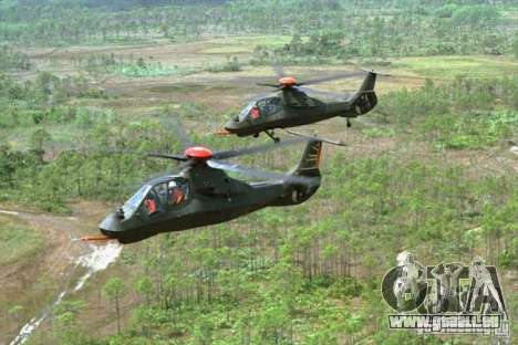 Sikorsky RAH-66 Comanche stealth green für GTA San Andreas Seitenansicht