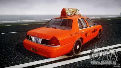 Ford Crown Victoria 2003 v.2 Taxi pour GTA 4 est un côté