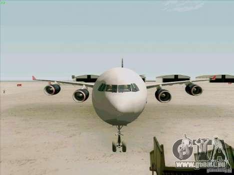 Airbus A-340-600 Formula 1 für GTA San Andreas Seitenansicht