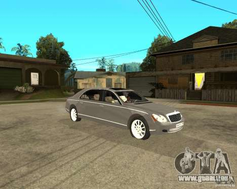 Maybach 62 pour GTA San Andreas vue de droite