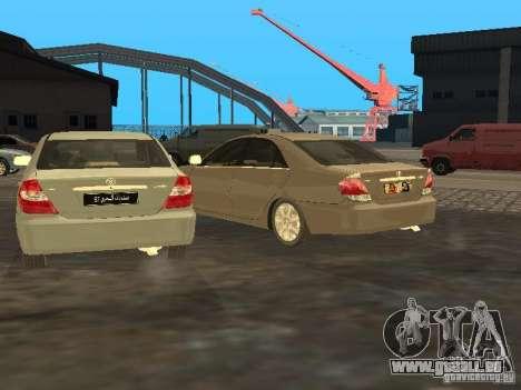 Toyota Camry 2003 pour GTA San Andreas vue intérieure