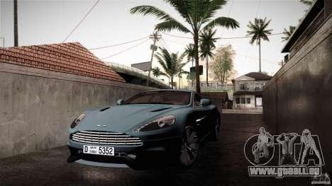 Aston Martin Vanquish V12 für GTA San Andreas Rückansicht
