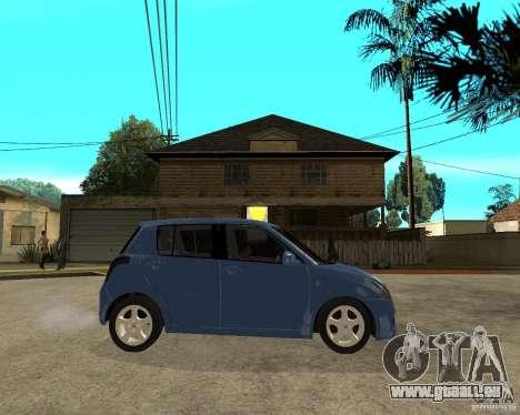 2007 Suzuki Swift pour GTA San Andreas vue de droite