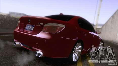 BMW M5 2009 pour GTA San Andreas laissé vue