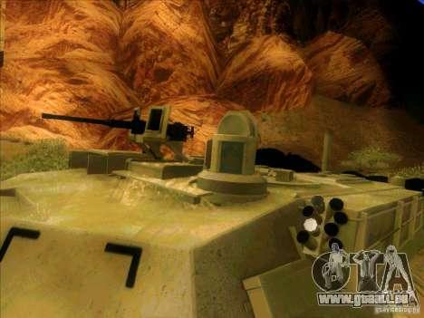M1A2 Abrams von Battlefield 3 für GTA San Andreas Innenansicht