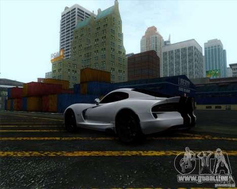 Dodge Viper SRT 2013 für GTA San Andreas rechten Ansicht