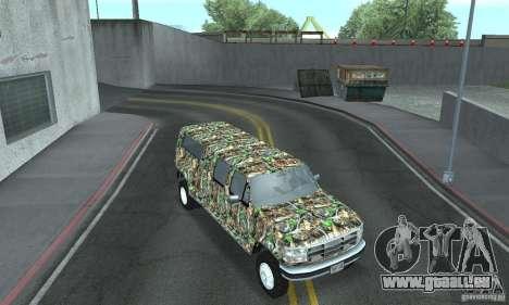 Ford F-350 1992 pour GTA San Andreas vue intérieure