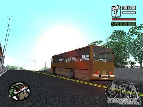 IKARUS 260,37 pour GTA San Andreas vue intérieure