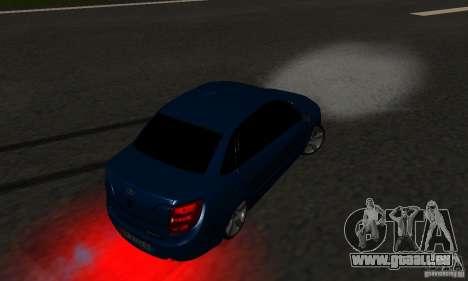 Lada Granta Light Tuning pour GTA San Andreas vue de dessus