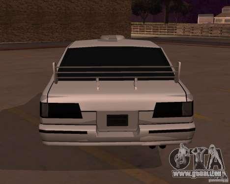 Taxi pour GTA San Andreas sur la vue arrière gauche
