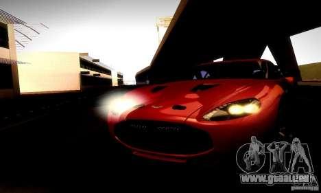 Aston Martin V12 Zagato Final pour GTA San Andreas vue intérieure