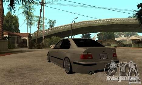 BMW E39 M5 Sedan für GTA San Andreas zurück linke Ansicht