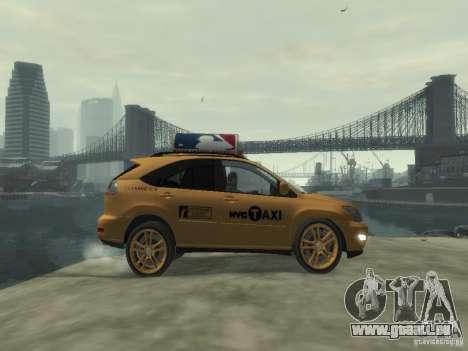 Lexus RX400 New York Taxi pour GTA 4 est une vue de l'intérieur