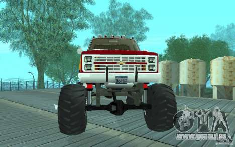 Chevrolet Silverado 2500 MonsterTruck 1986 für GTA San Andreas linke Ansicht