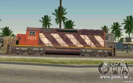 CN SD40 ZEBRA STRIPES pour GTA San Andreas laissé vue