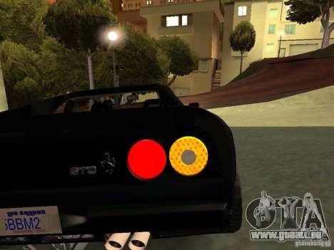 Ferrari 288 GTO pour GTA San Andreas vue de dessous