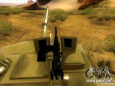 M1A2 Abrams von Battlefield 3 für GTA San Andreas obere Ansicht