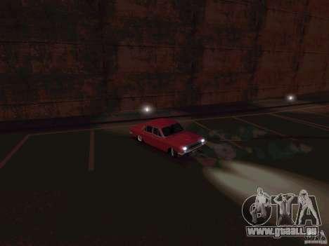 GAZ 24 CR v2 pour GTA San Andreas sur la vue arrière gauche