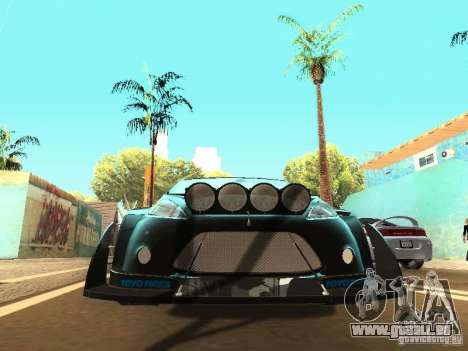 Ford Fiesta Rally Time für GTA San Andreas zurück linke Ansicht