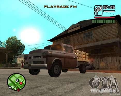 Walton HD pour GTA San Andreas sur la vue arrière gauche
