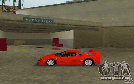 Ferrari F40 für GTA Vice City zurück linke Ansicht