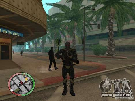 Armes exotiques de Crysis 2 pour GTA San Andreas cinquième écran