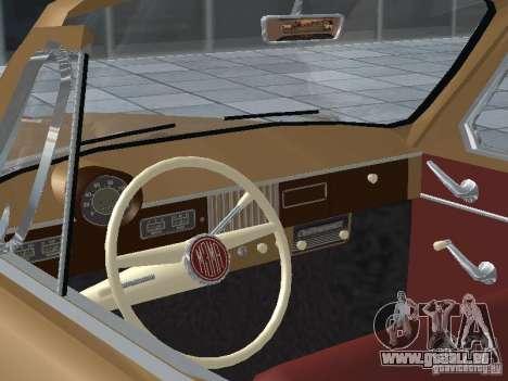 Moskvich 403 Cabrio für GTA San Andreas Rückansicht