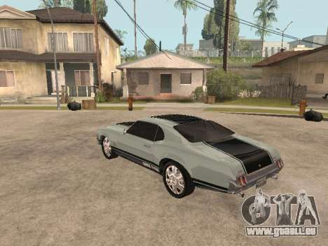 SabreGT von GTA 4 für GTA San Andreas zurück linke Ansicht