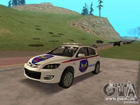 Mazda 3 Police für GTA San Andreas