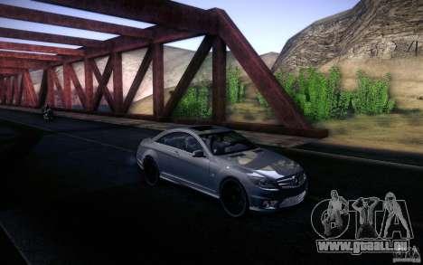 Mercedes Benz CL65 AMG pour GTA San Andreas vue intérieure