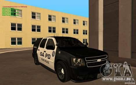 Chevrolet Tahoe SAPD für GTA San Andreas