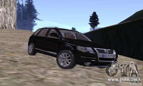 Volkswagen Touareg für GTA San Andreas Rückansicht